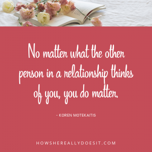 You really do matter
