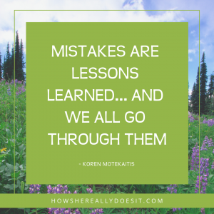 Making mistakes DOES NOT make you a failure